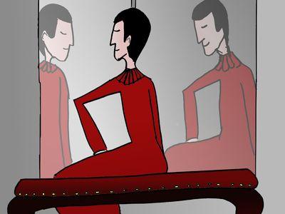 Le beau-père devant le miroir