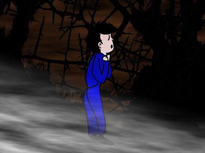 Blanc-Joli est perdu dans la forêt