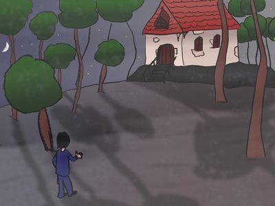 Blanc-Joli arrive près de la maison