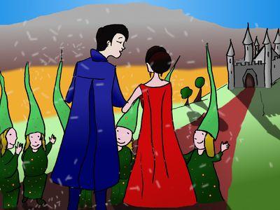 En route le mariage au château
